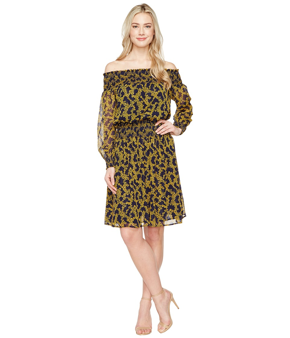 MICHAEL Michael Kors - Arbor Smock Dress (Taxi Yellow) Women's Dress
