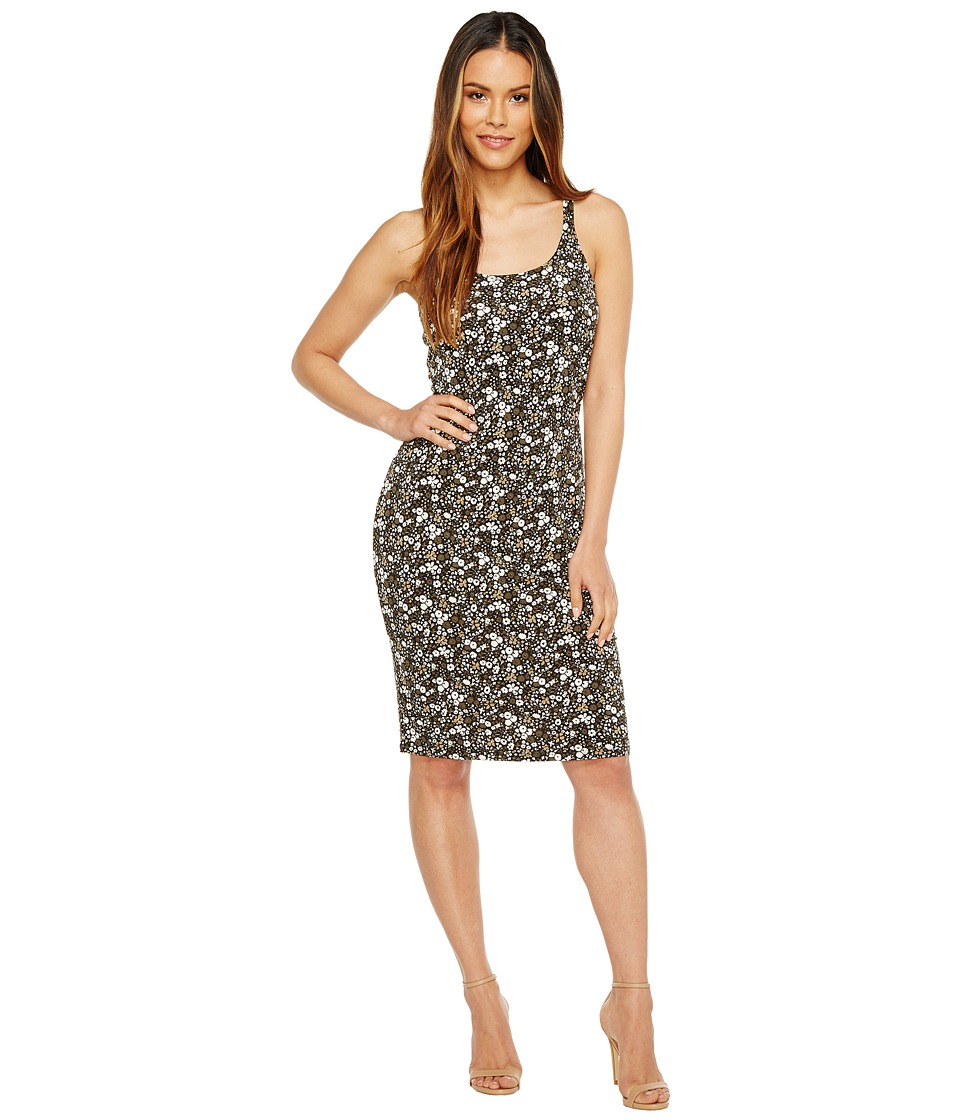 MICHAEL Michael Kors Brooks Strap Tank Dress (Safari Green) Women