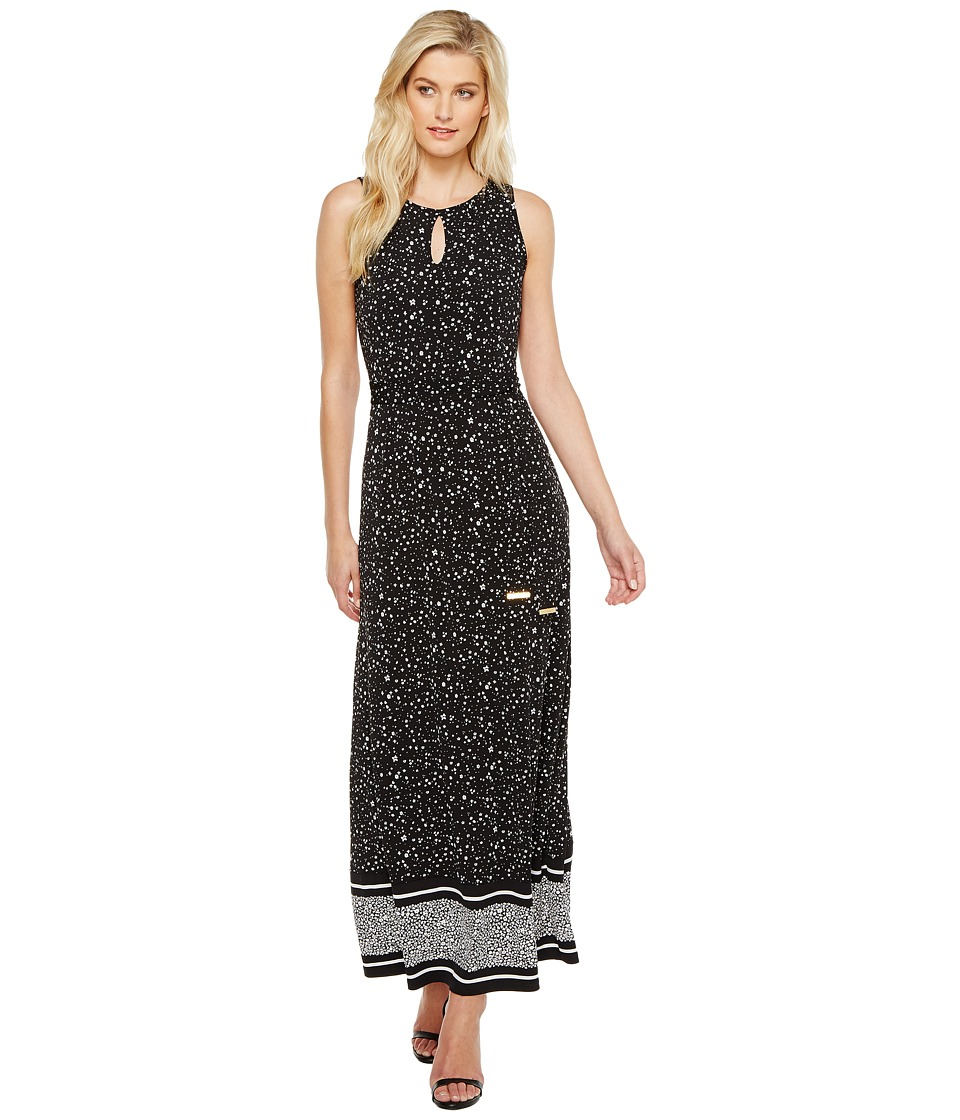 MICHAEL Michael Kors Nora Border Maxi Dress (Black) Women