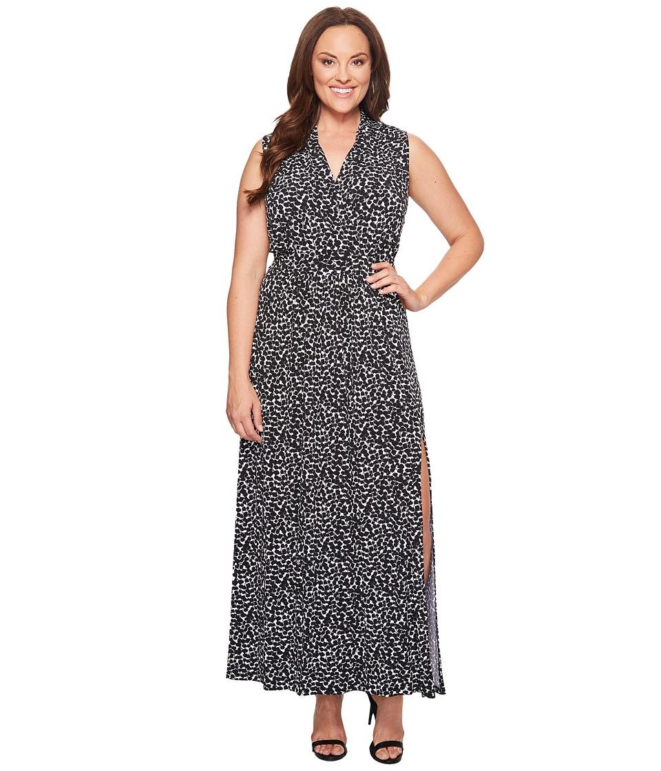 MICHAEL Michael Kors - Plus Size Mini Finy Slit Maxi Dress (Black) Women's Dress