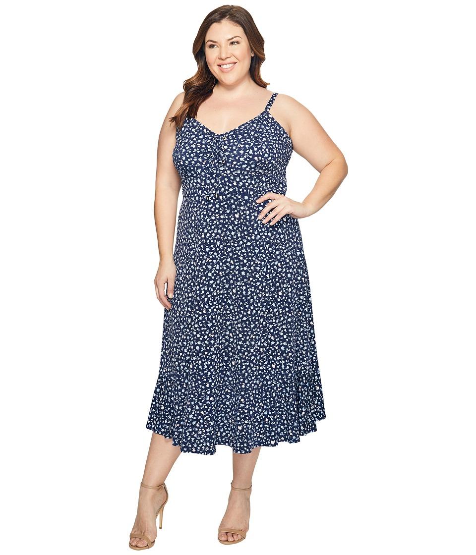 MICHAEL Michael Kors - Plus Size Quinn Lacing Slip Dress (Cloud) Women's Dress