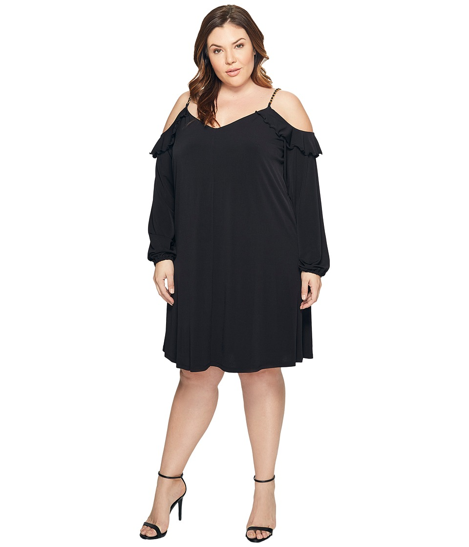 MICHAEL Michael Kors Plus Size Cold Shoulder Chain Strap Dress