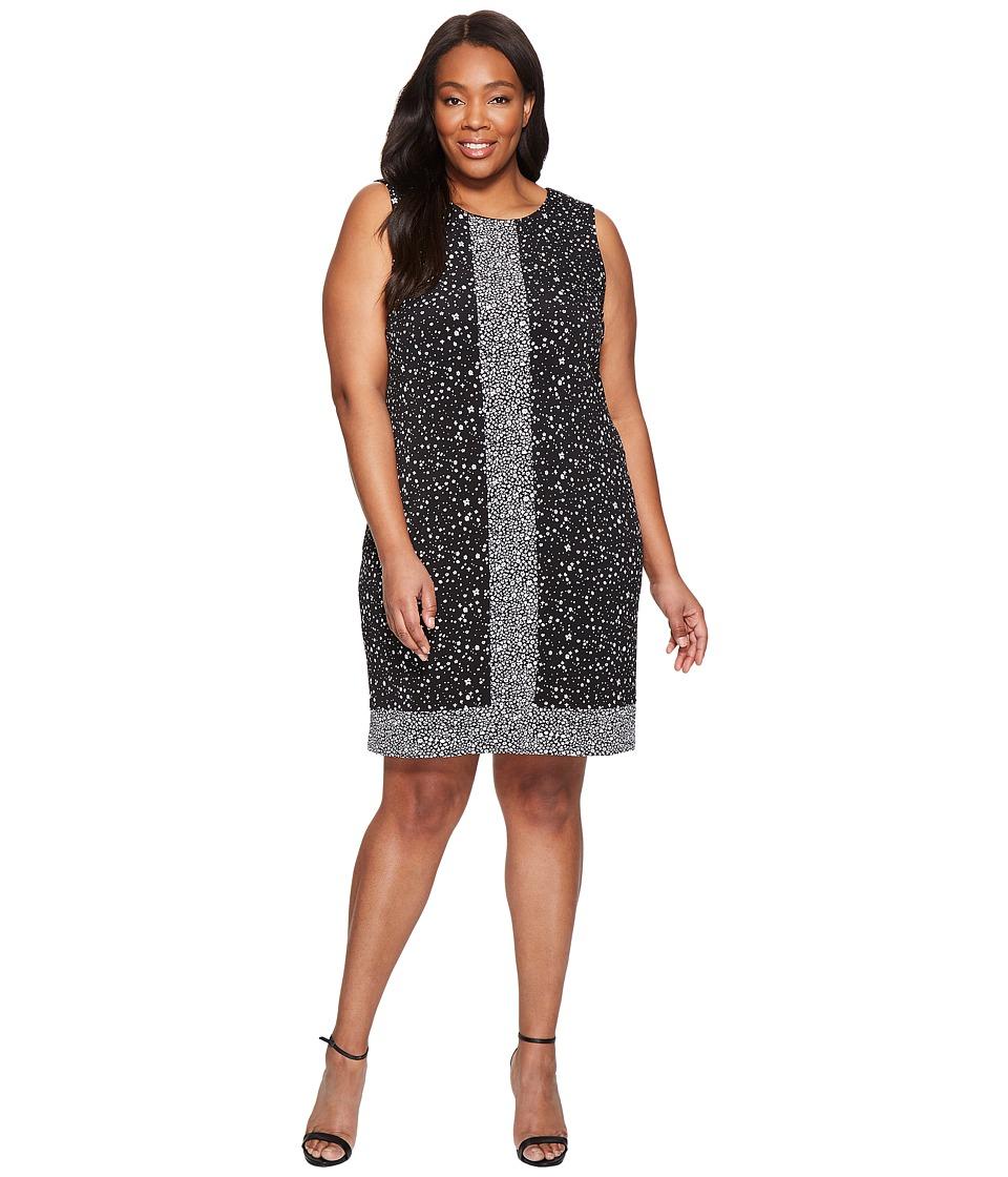 MICHAEL Michael Kors Plus Size Nora Sleeveless Border Dress (Black) Women