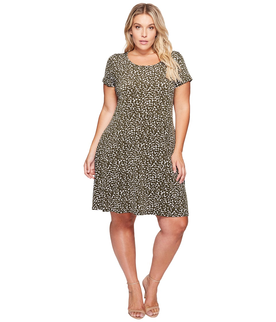 MICHAEL Michael Kors - Plus Size Finley Mamba Cap Dress (Ivy) Women's Dress