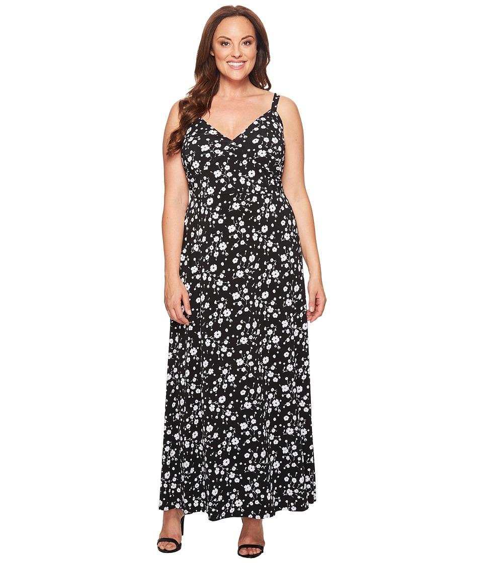 MICHAEL Michael Kors Plus Size Verbena Maxi Dress (Black) Women