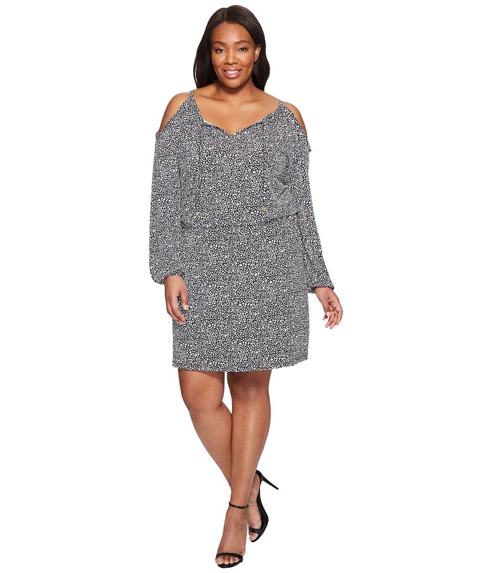 MICHAEL Michael Kors Plus Size Thora Cold Shoulder Dress (Black) Women