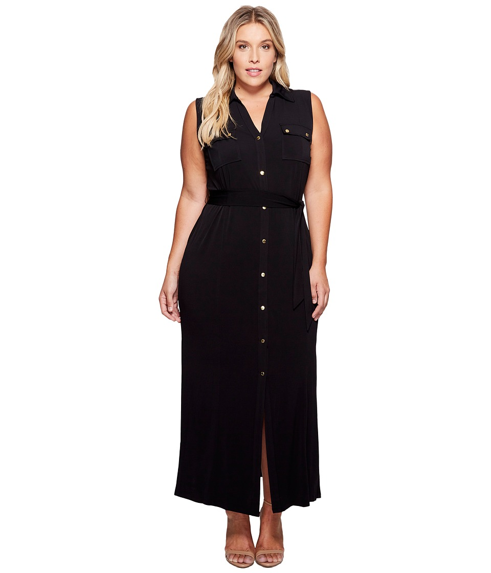 MICHAEL Michael Kors Plus Size MJ Sleeveless Maxi ShirtDress