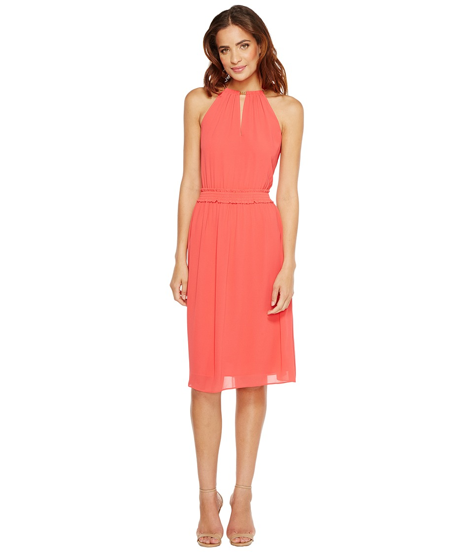 MICHAEL Michael Kors Chain Neck Dress (Sangria) Women