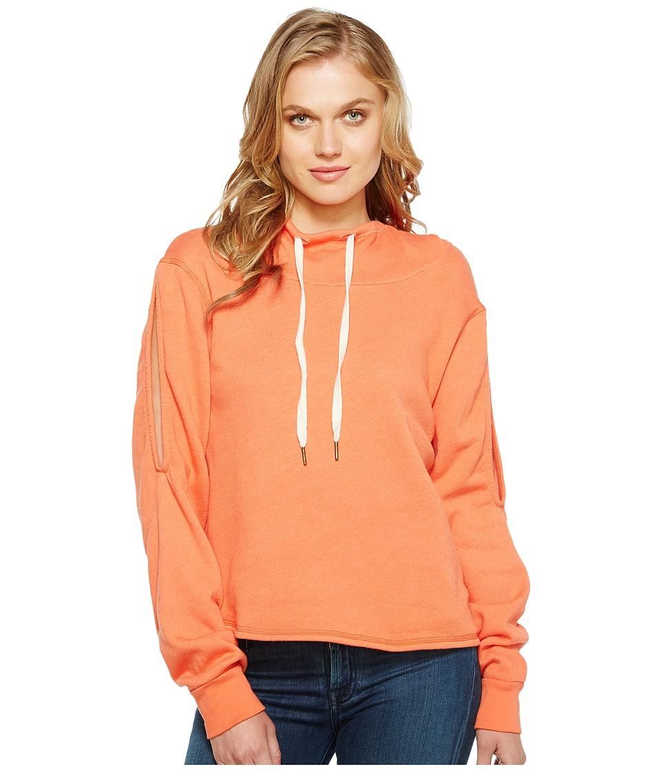 Project Social T - Pierce Cold Shoulder (P. Shameless Orange) Women's Clothing
