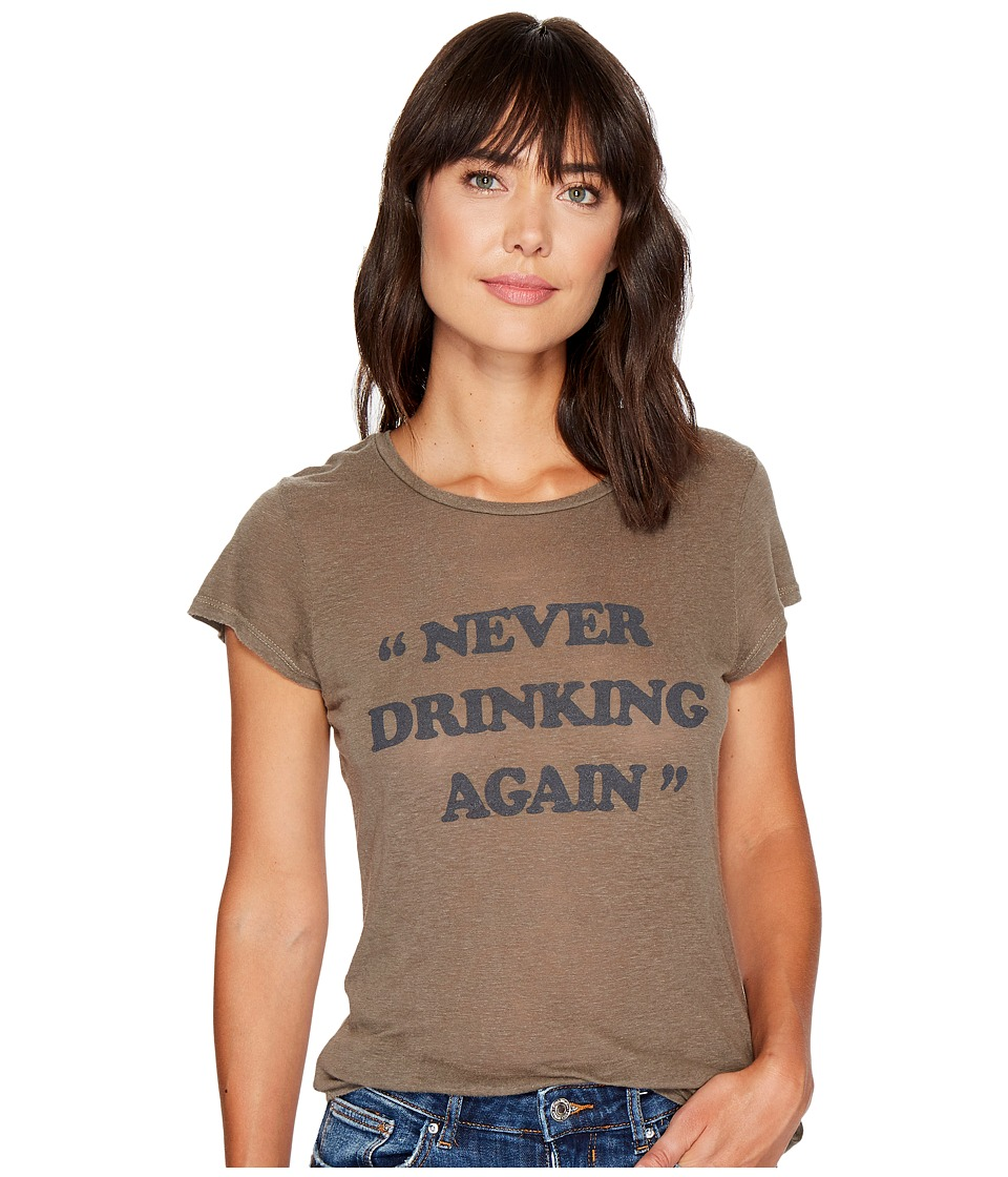 Project Social T - Never Drinking Again (Loden) Women's T Shirt