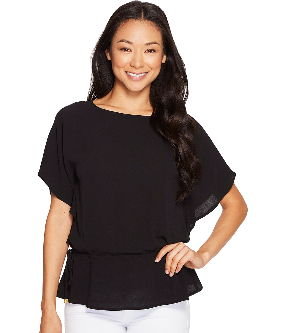 MICHAEL Michael Kors - Kimono Sleeve Top (Black) Women's Long Sleeve Pullover