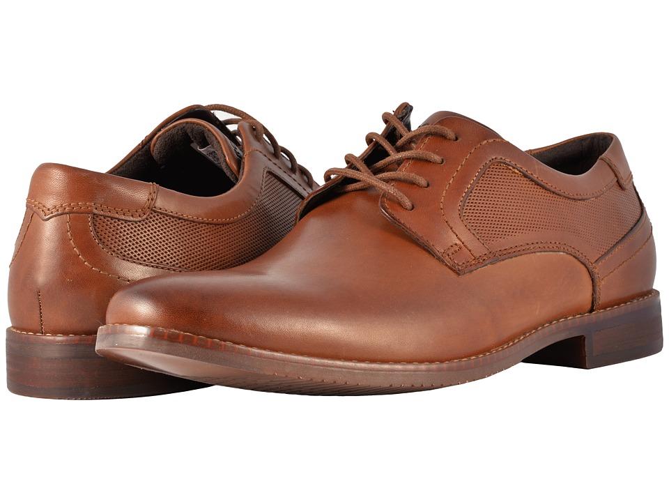 Rockport Style Purpose Perf Plain Toe (Cognac) Men