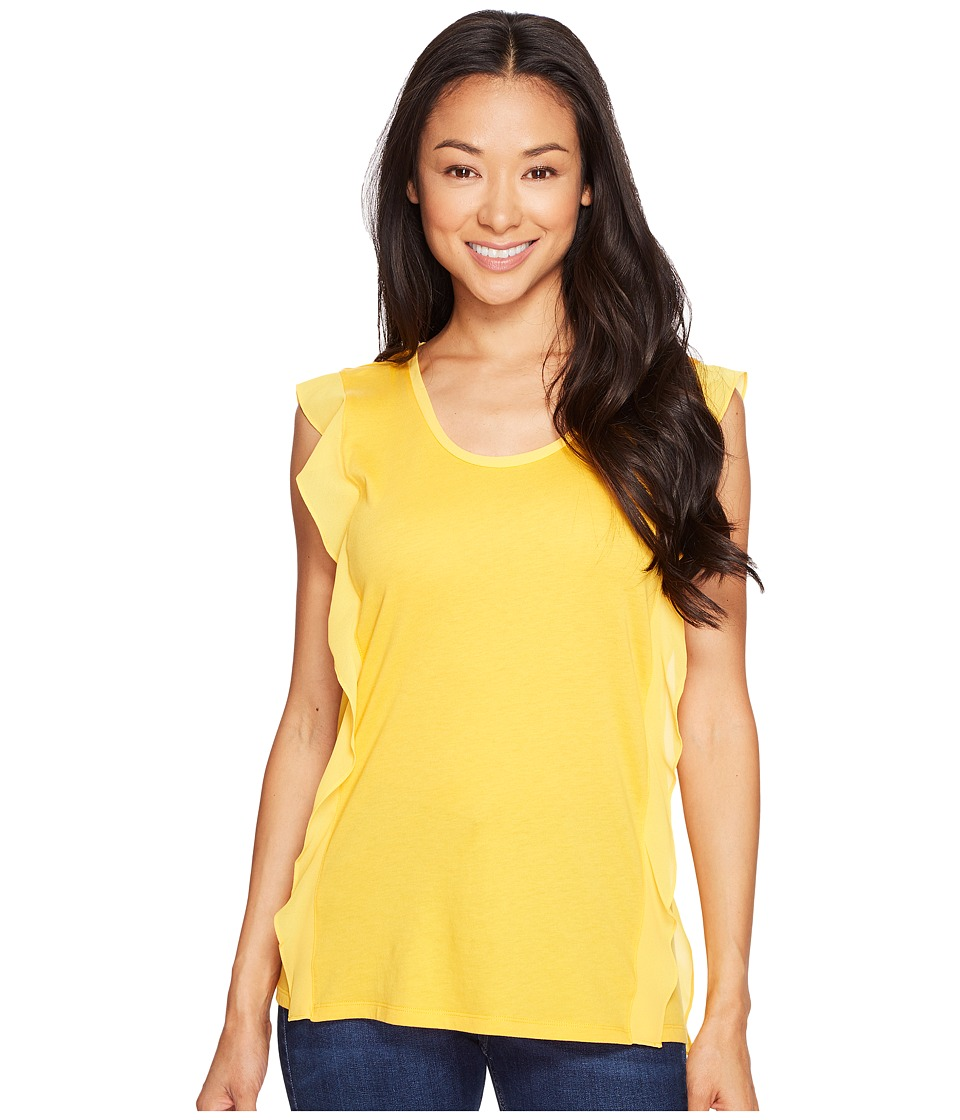 MICHAEL Michael Kors - Ruffle Side Top (Taxi Yellow) Women's Clothing