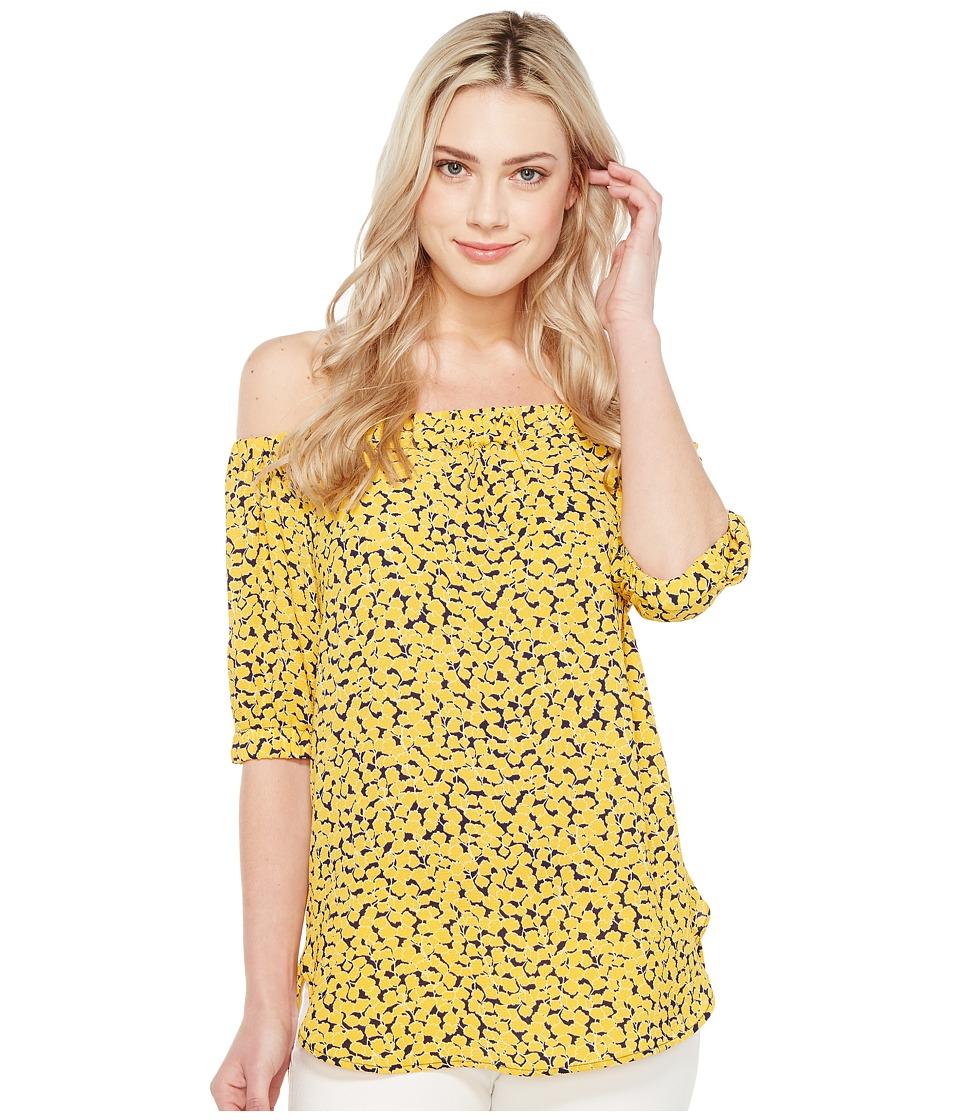 MICHAEL Michael Kors - Mini Finley Off Shoulder Top (Taxi Yellow) Women's Clothing