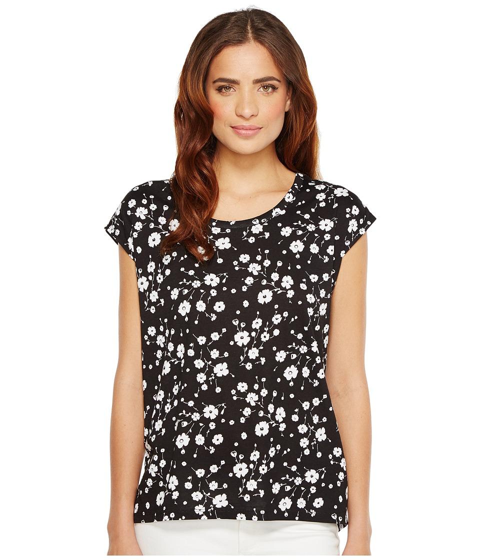 MICHAEL Michael Kors - Verbena Elliptical Hem Top (Black) Women's Clothing