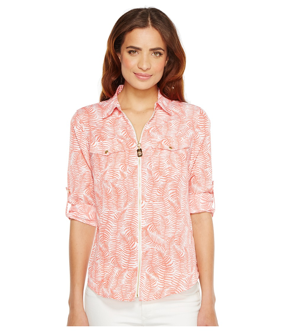 MICHAEL Michael Kors - Pella Fern Dog Tag Top (Sangria) Women's Clothing