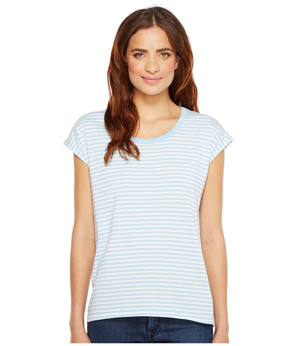 MICHAEL Michael Kors - Stripe Elliptical Hem Top (Cloud) Women's Clothing