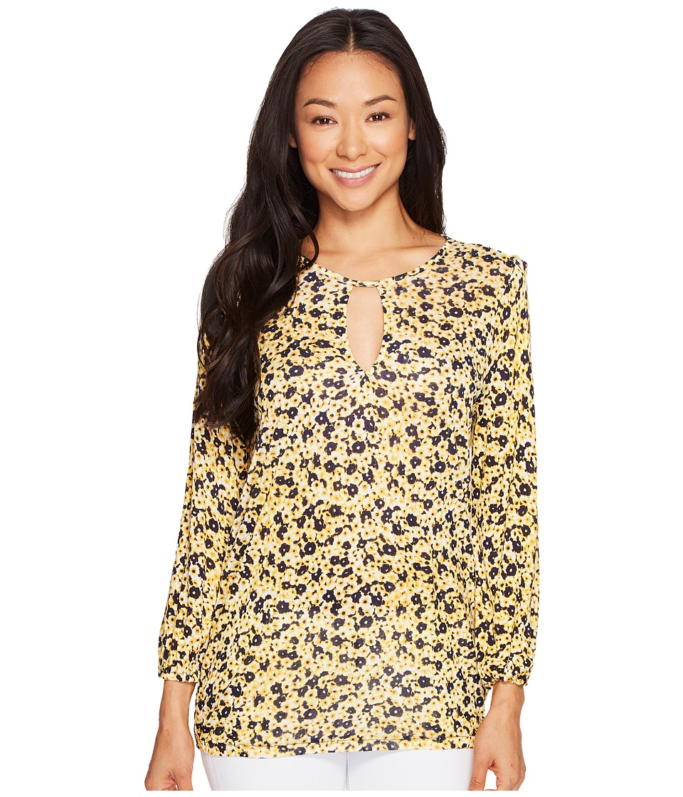 MICHAEL Michael Kors - Lydia Peasant Top (Taxi Yellow) Women's Clothing