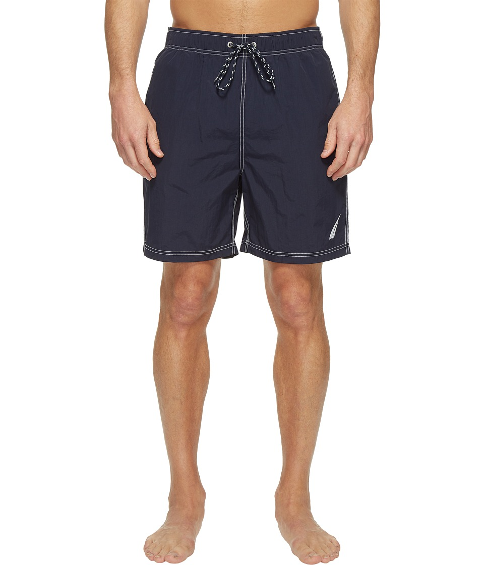 Nautica - Large J-Class Trunk (Navy) Men's Swimwear