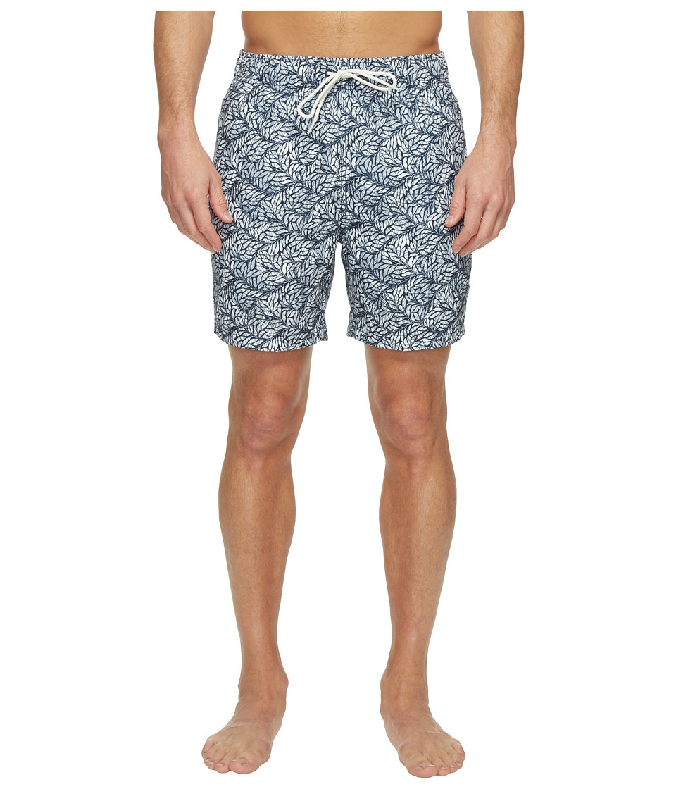Nautica - Leaves Print Trunk (True Navy) Men's Swimwear