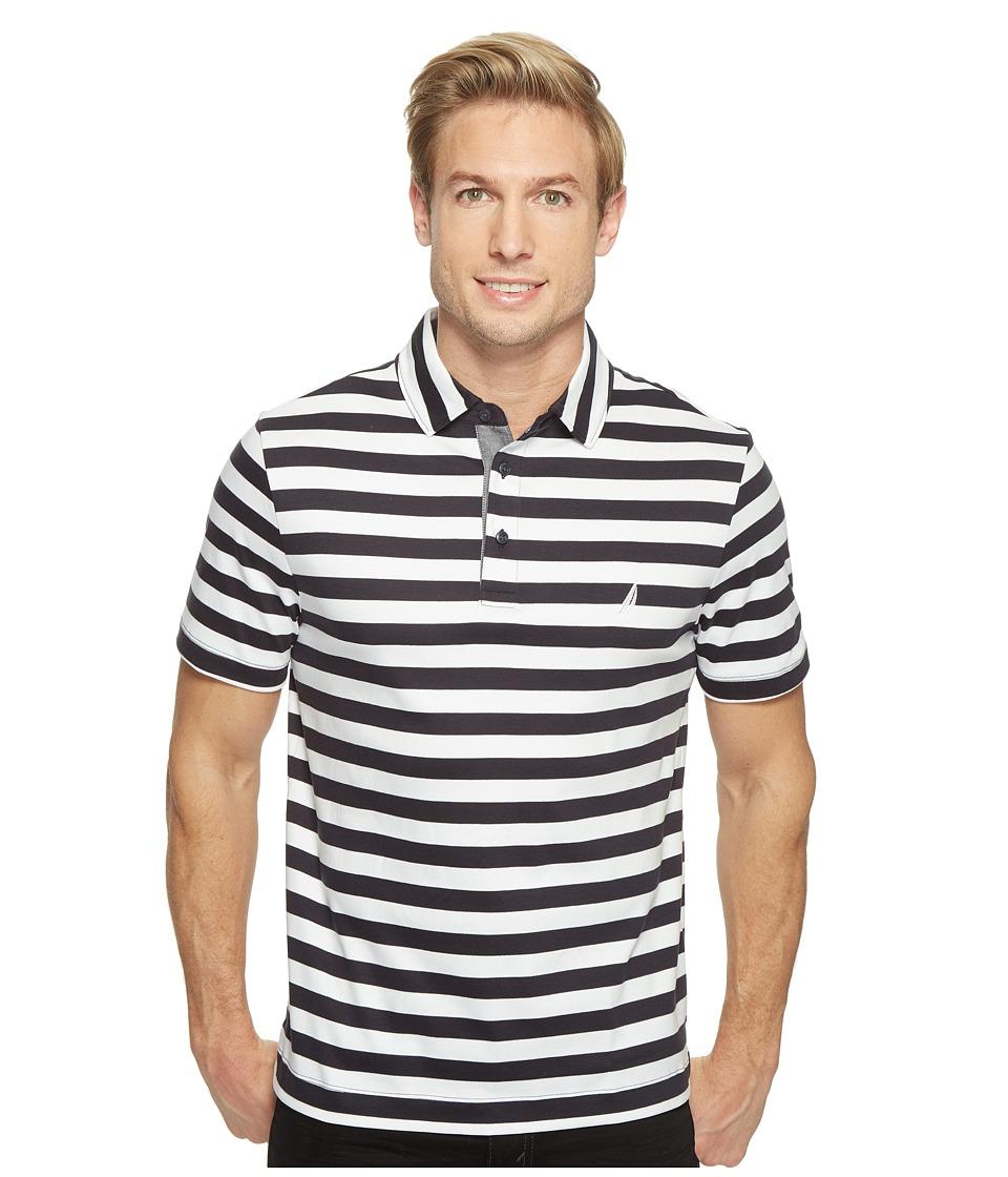 Nautica - Short Sleeve Softex Stripe Polo (True Navy) Men's Short Sleeve Pullover