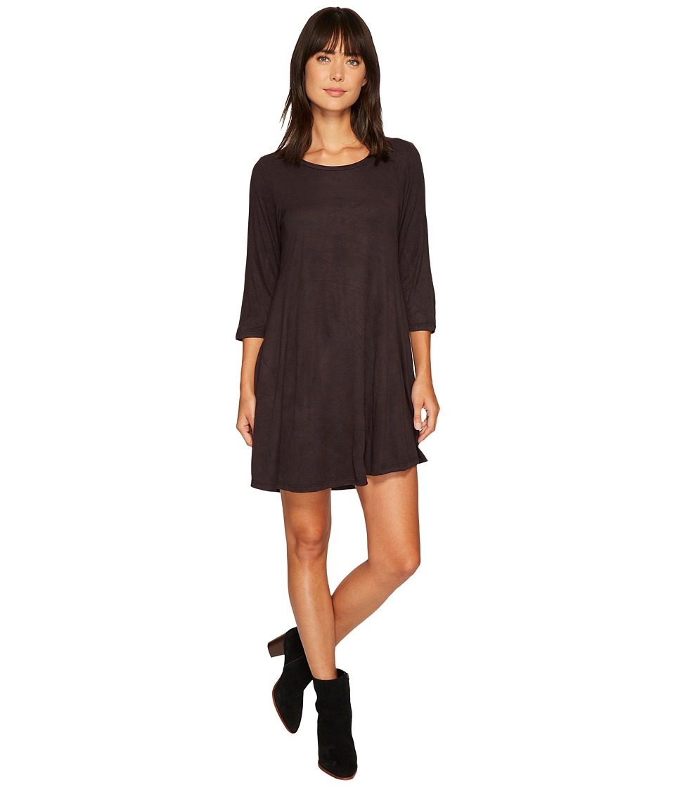 Rock and Roll Cowgirl - 3/4 Sleeve Dress D4-3799 (Black) Women's Dress