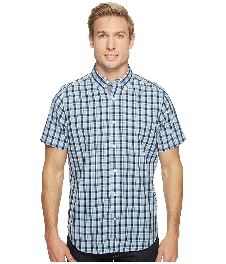 Nautica - Short Sleeve Large Plaid (Light Haze) Men's Clothing