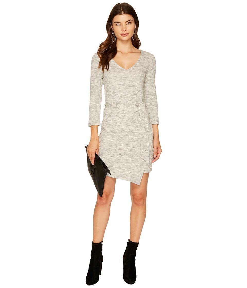 Jack by BB Dakota - Denny Space Dyed French Terry Dress (Light Heather Grey) Women's Dress