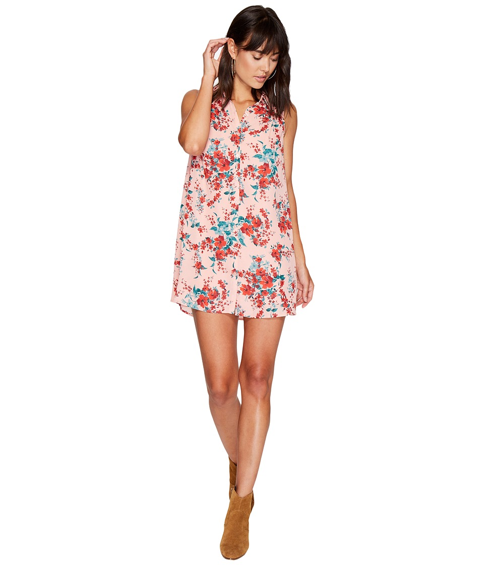 Jack by BB Dakota - Armand Floral Printed Dress (Rose Dawn) Women's Dress