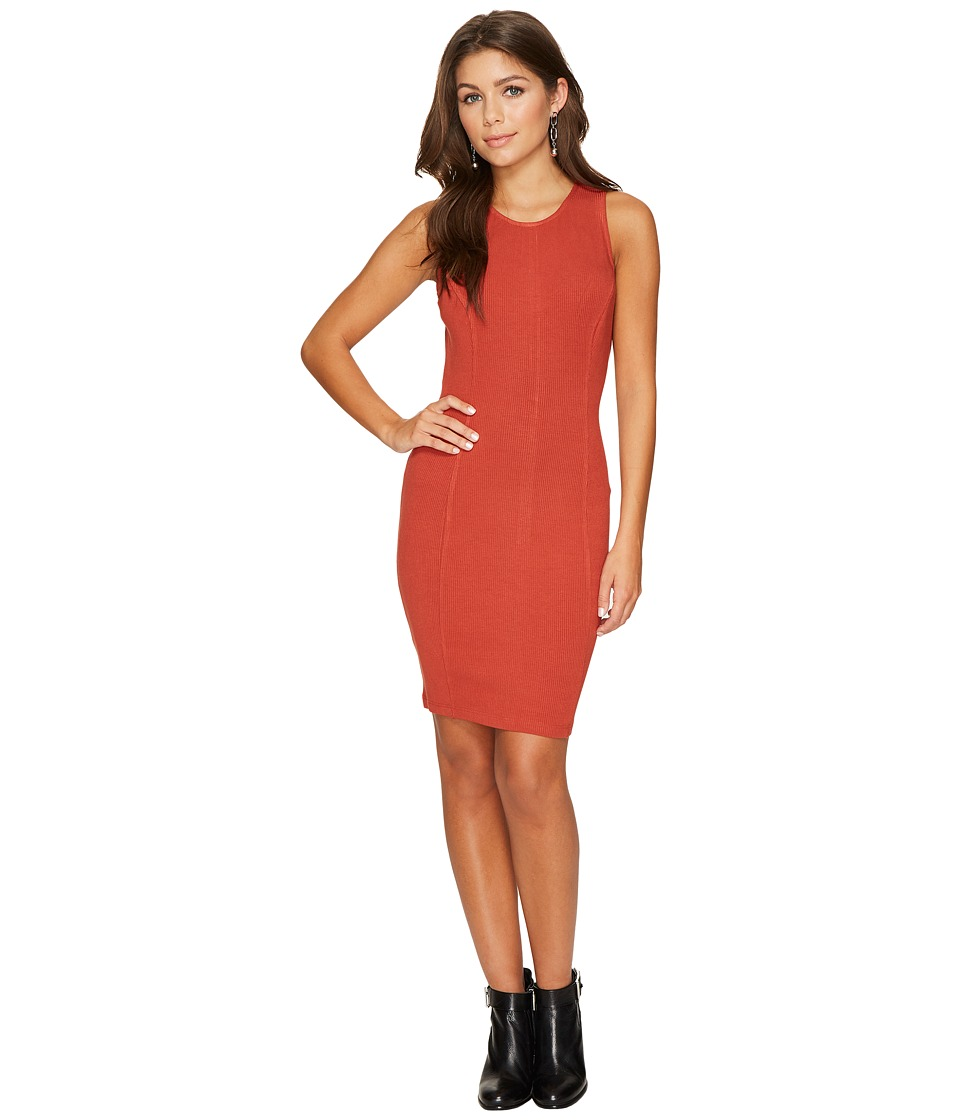 Jack by BB Dakota - Gordon Rib-Knit Bodycon Dress (Terracotta Orange) Women's Dress