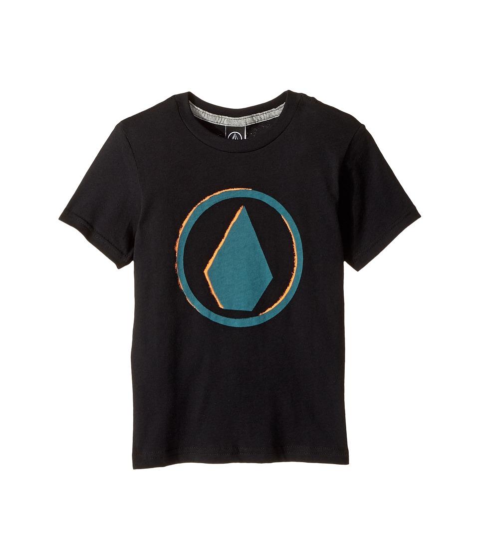 Volcom Kids - Burnt Short Sleeve Tee (Toddler/Little Kids) (Black) Boy's T Shirt