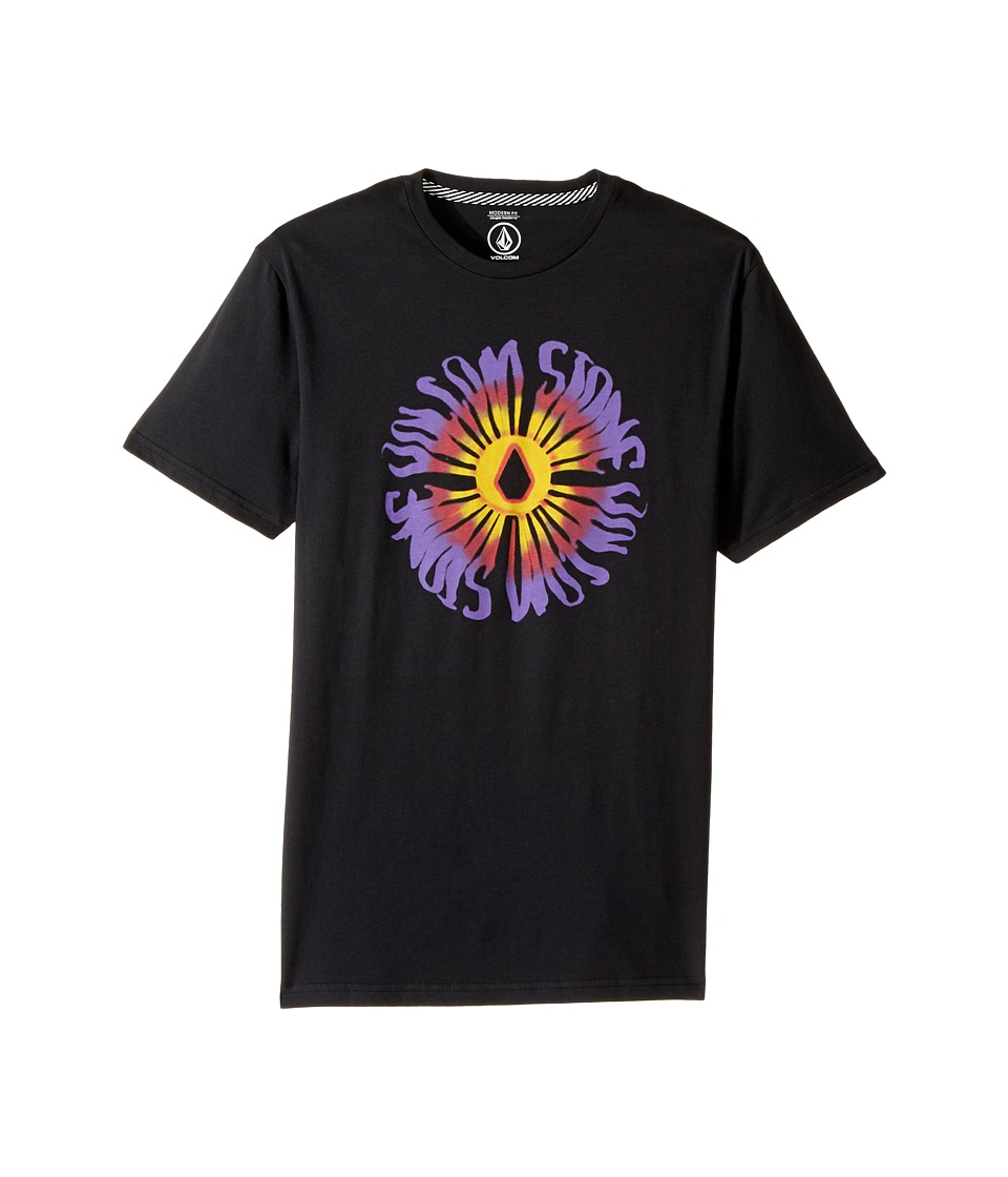 Volcom Kids - Doom Bloom Short Sleeve Tee (Big Kids) (Black) Boy's T Shirt