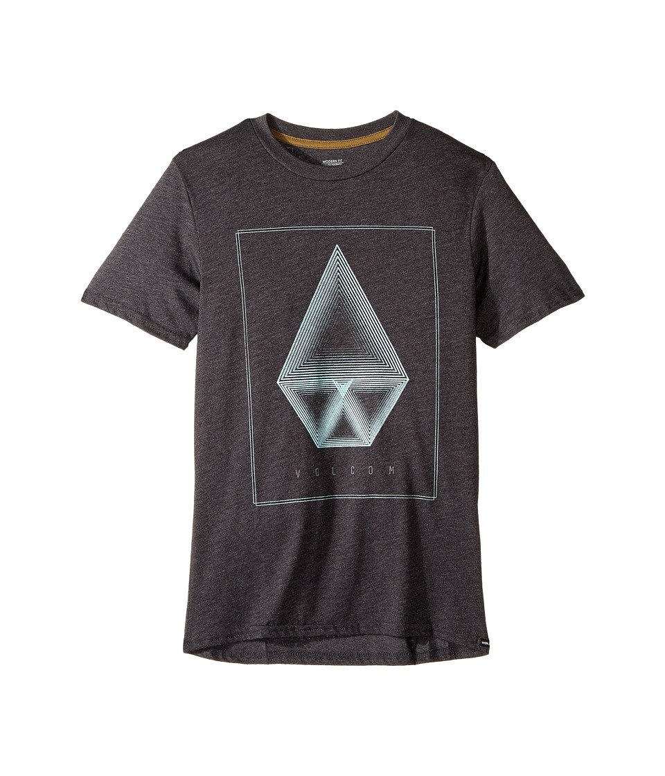 Volcom Kids - Concentric Short Sleeve Tee (Big Kids) (Black Heather) Boy's T Shirt