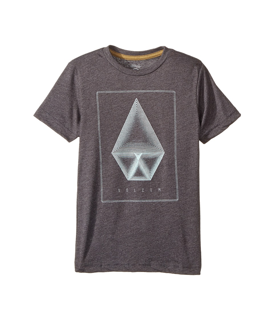 Volcom Kids - Concentric Short Sleeve Tee (Toddler/Little Kids) (Black Heather) Boy's T Shirt