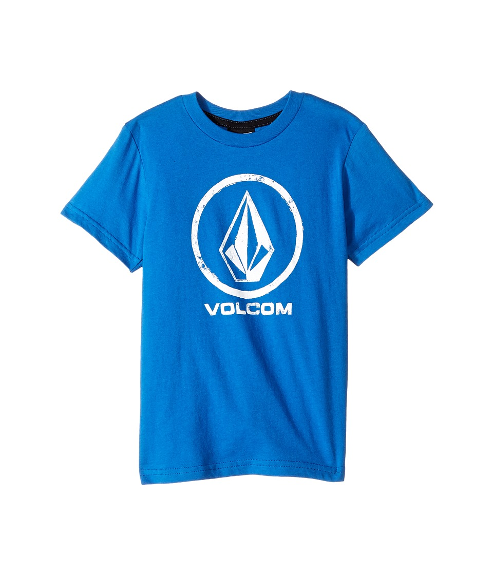 Volcom Kids - Lino Stone Short Sleeve Tee (Toddler/Little Kids) (Blue True) Boy's T Shirt