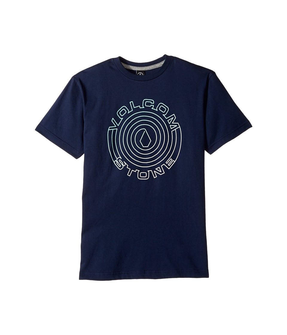 Volcom Kids - Sound Maze Short Sleeve Tee (Big Kids) (Indigo) Boy's T Shirt