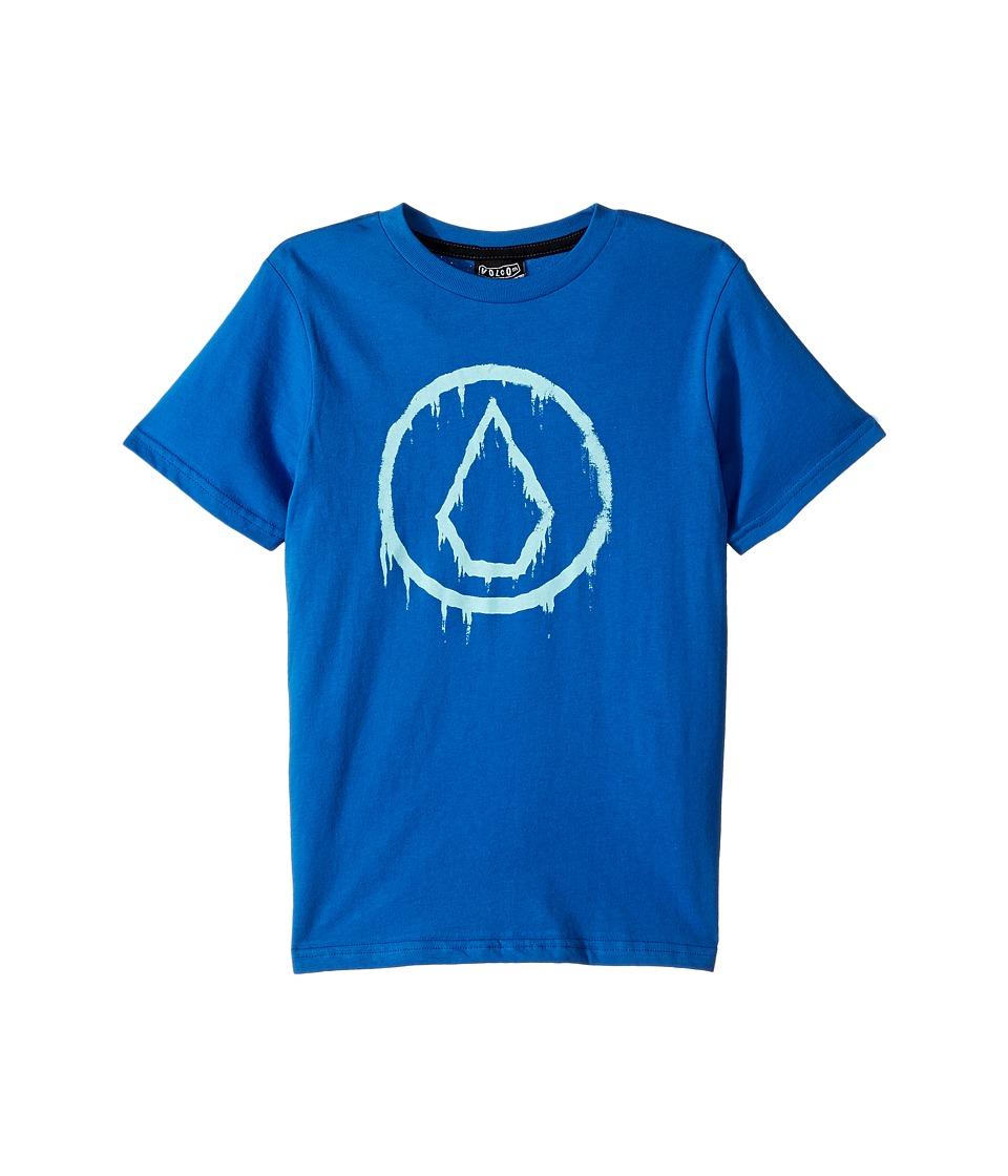Volcom Kids - Sludge Short Sleeve Tee (Toddler/Little Kids) (Blue True) Boy's T Shirt