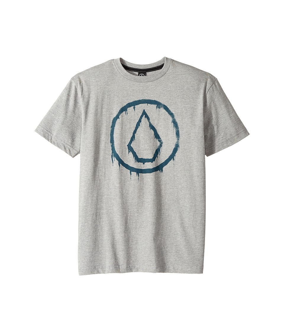 Volcom Kids - Sludge Short Sleeve Tee (Big Kids) (Grey Heather) Boy's T Shirt