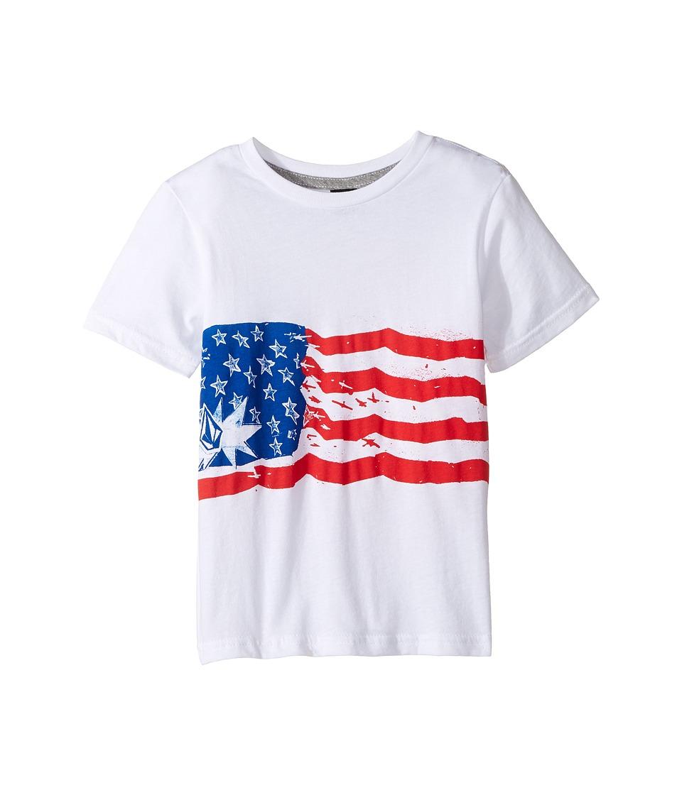 Volcom Kids - Spangler Short Sleeve Tee (Toddler/Little Kids) (White) Boy's T Shirt