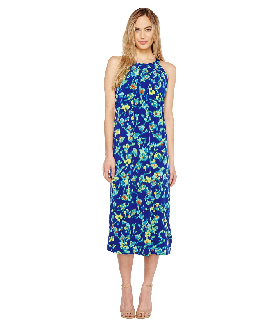 Ellen Tracy Halter Midi Dress (Island Floral) Women