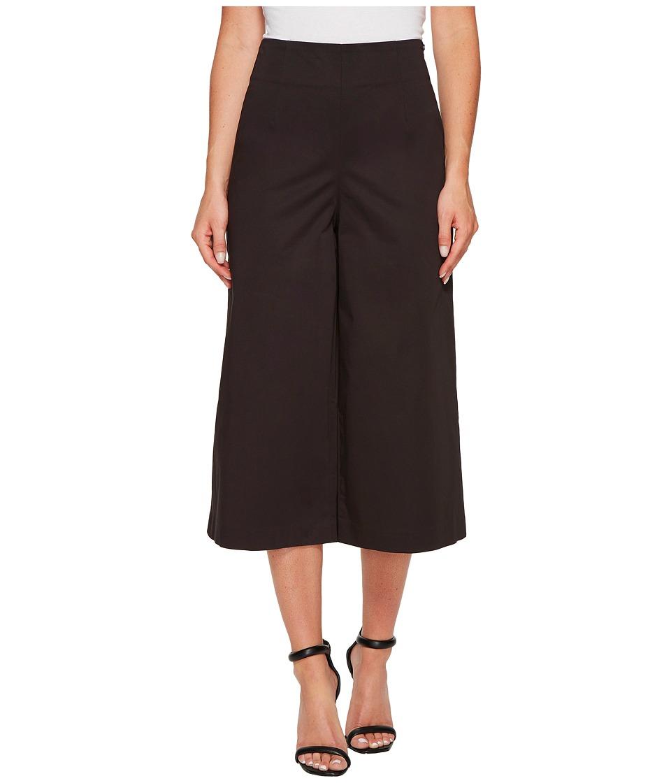 Ellen Tracy - High Waist Side Zip Culotte (E Black) Women's Casual Pants