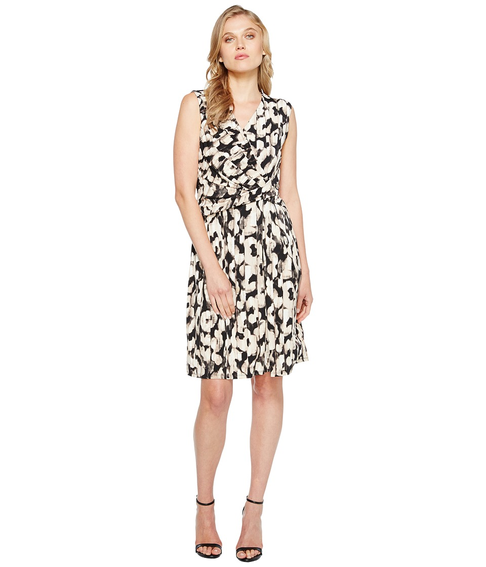 Ellen Tracy - Twist Front Dress (Serengeti/Beach) Women's Dress