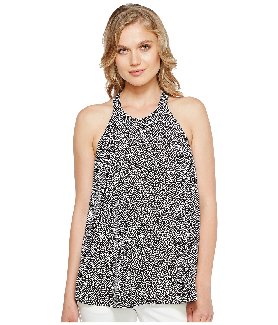Ellen Tracy - Pleat Front Halter (Safari Spot/E Black) Women's Sleeveless