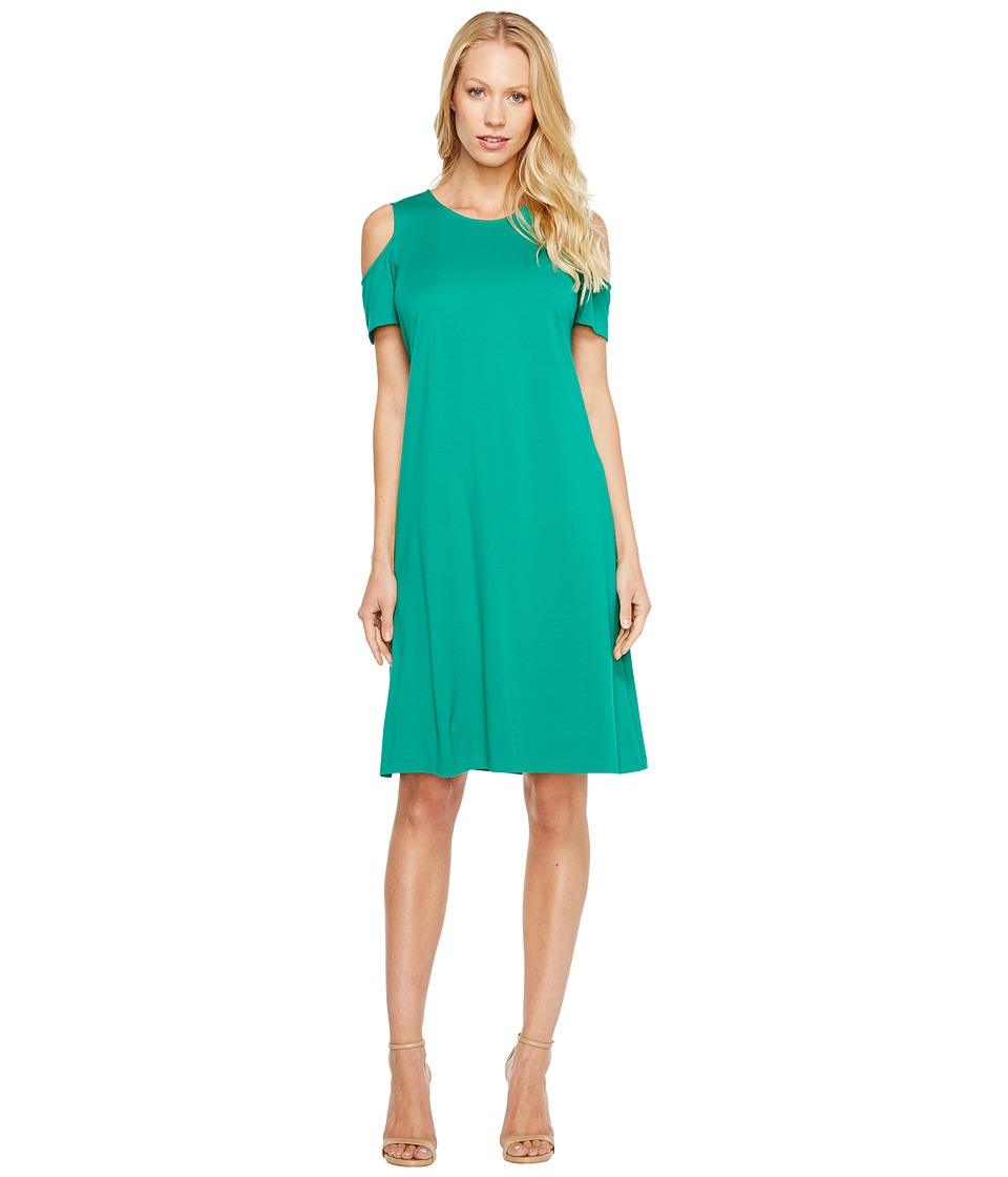Ellen Tracy - Open Shoulder Dress (Palm) Women's Dress