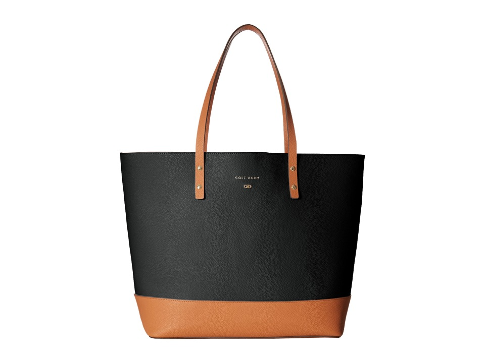 Cole Haan - Beckett Tote (Black/British Tan) Tote Handbags