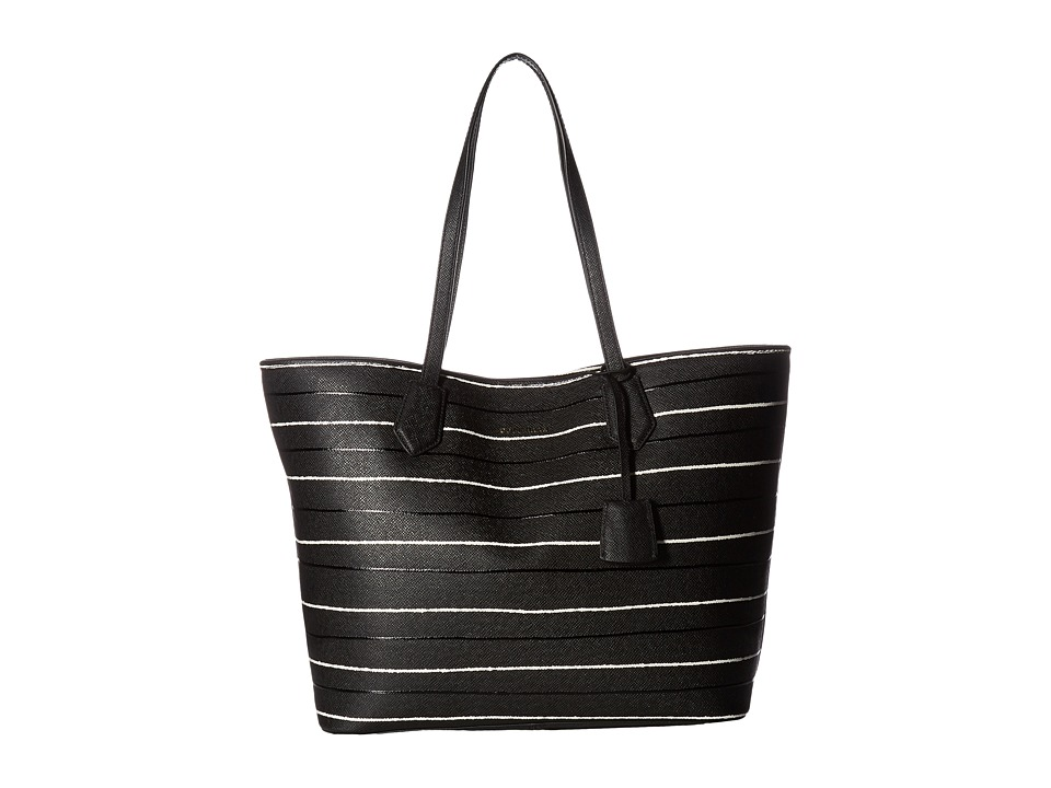 Cole Haan - Abbot Large Tote (Black Stripe) Tote Handbags