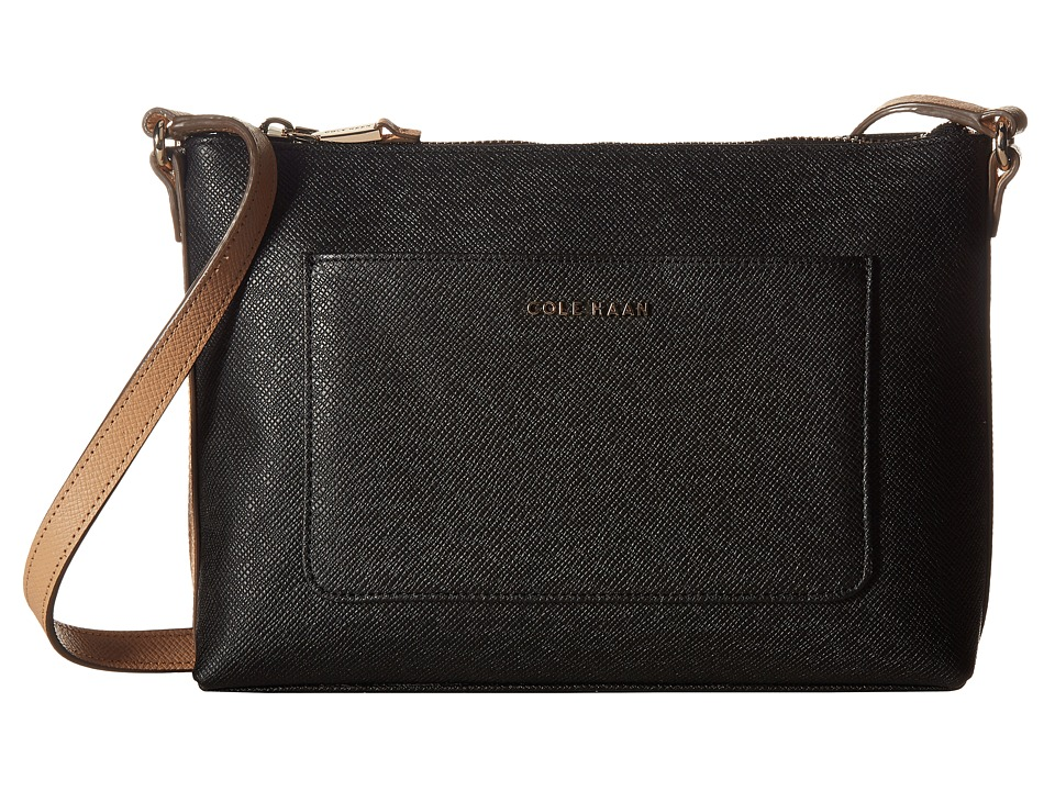 Cole Haan - Emilia Crossbody (Black/Toasted Almond) Cross Body Handbags