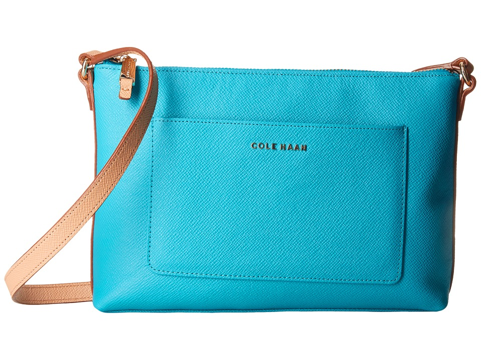 Cole Haan - Emilia Crossbody (Sea Blue/Toasted Almond) Cross Body Handbags