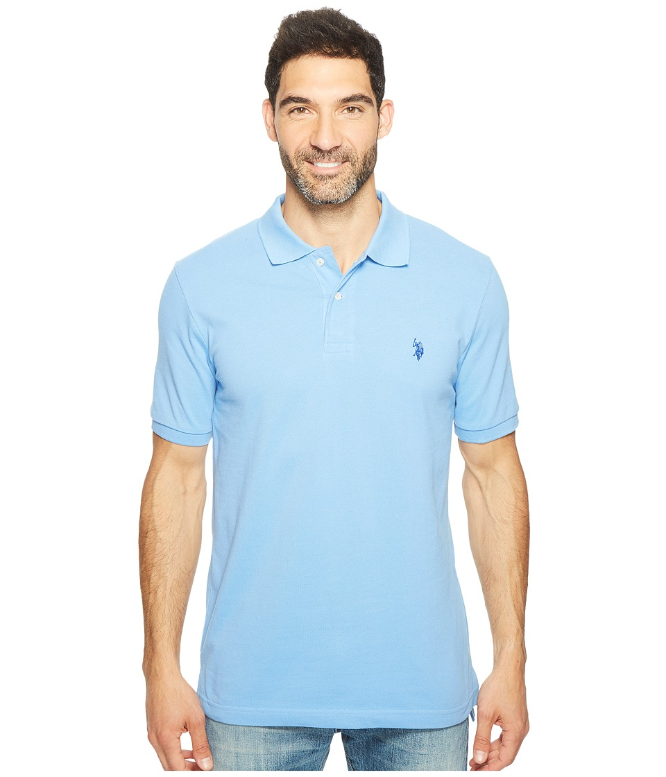 U.S. POLO ASSN. - Solid Cotton Pique Polo with Small Pony (Surf Spring/Mint Leaf) Men's Short Sleeve Knit