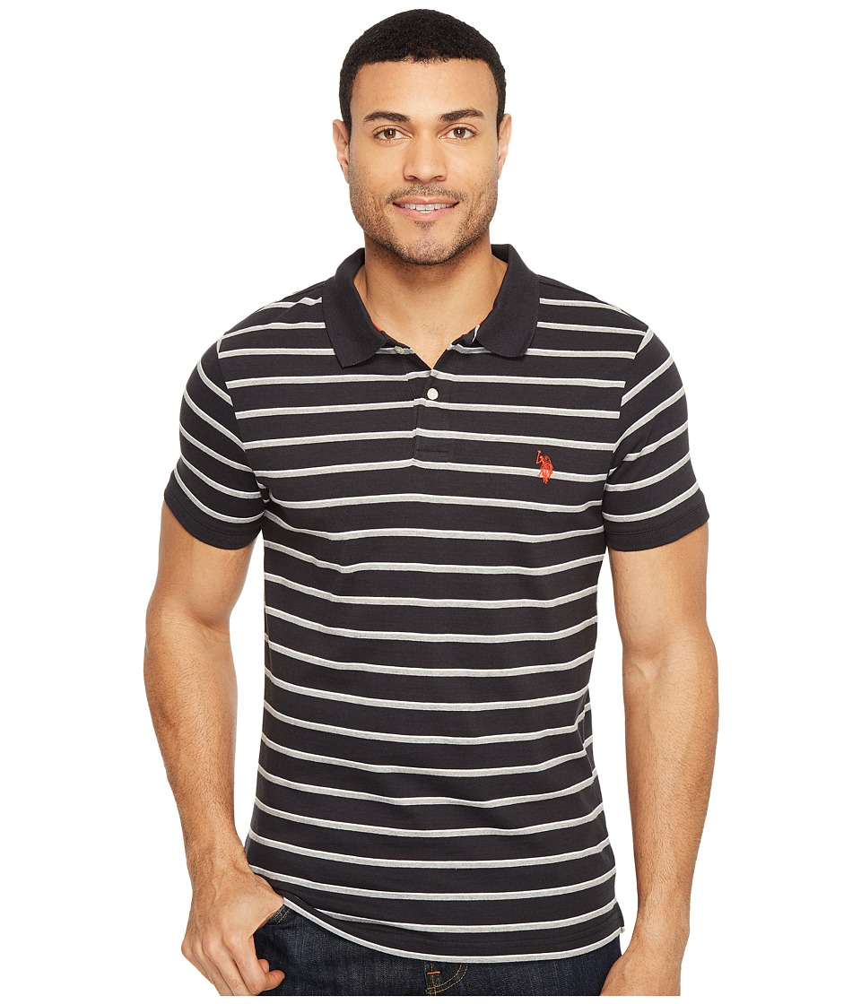 U.S. POLO ASSN. - Solid Jersey Polo Shirt (Black) Men's Clothing